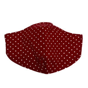 Cotton Face Mask : Red Polka Dot