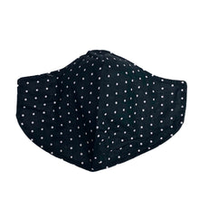 Load image into Gallery viewer, Cotton Face Mask : Black Polka Dot