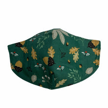Load image into Gallery viewer, Cotton Face Mask : Green Floral
