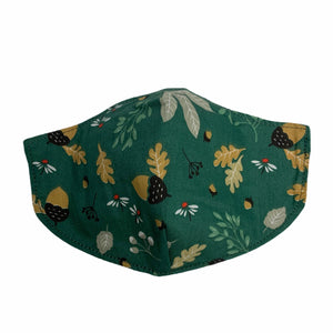 Cotton Face Mask : Green Floral
