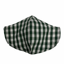 Load image into Gallery viewer, Cotton Face Mask : Green and White Tartan
