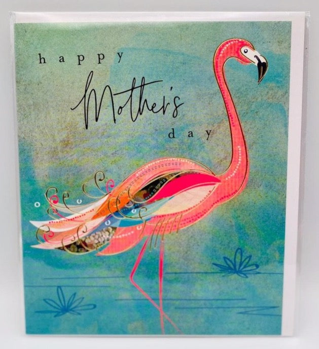 Mother flamingo