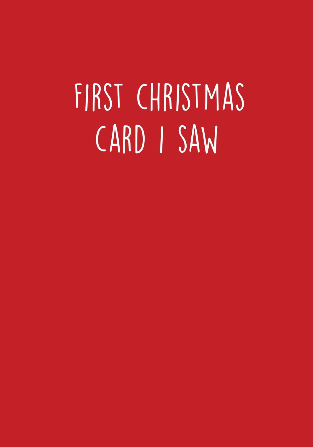 First Christmas card I saw