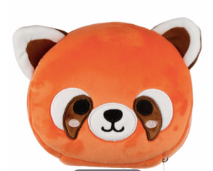 Plush animal travel pillow and eyemask: Red Panda