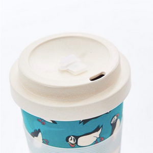 Bamboo Cup Blue Puffins