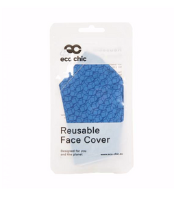 Face Cover - Blue Disrupted Cubes