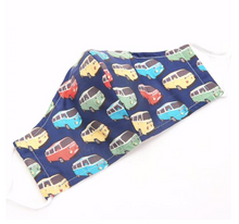 Load image into Gallery viewer, Face Cover - Navy Camper Van