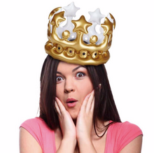 Load image into Gallery viewer, Queen for a Day Inflatable Crown