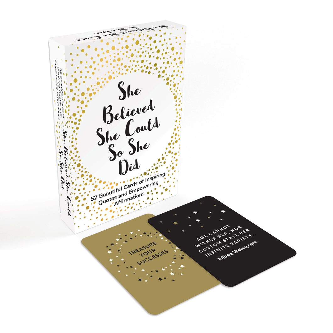 Affirmation Cards:She Believed She Could So She Did