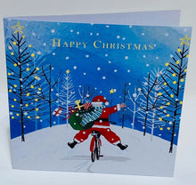 Load image into Gallery viewer, Santa on bike