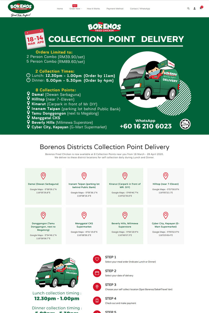 Borenos Districts Delivery