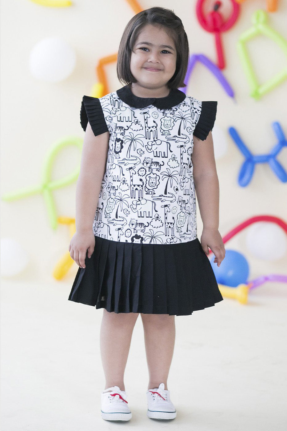 Girl Glow & Color Jungle Print Dress