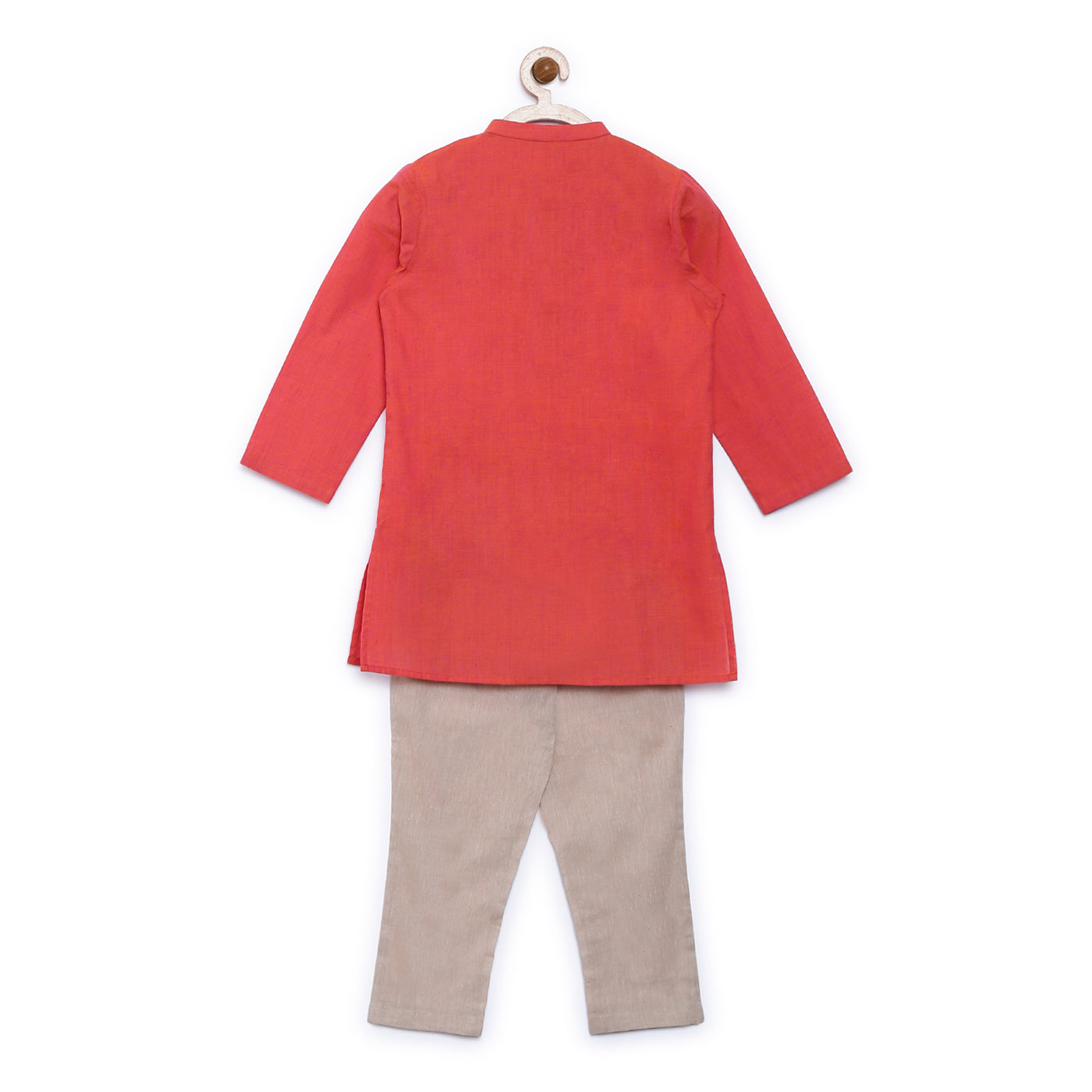 Boy Orange Fish Kurta Set