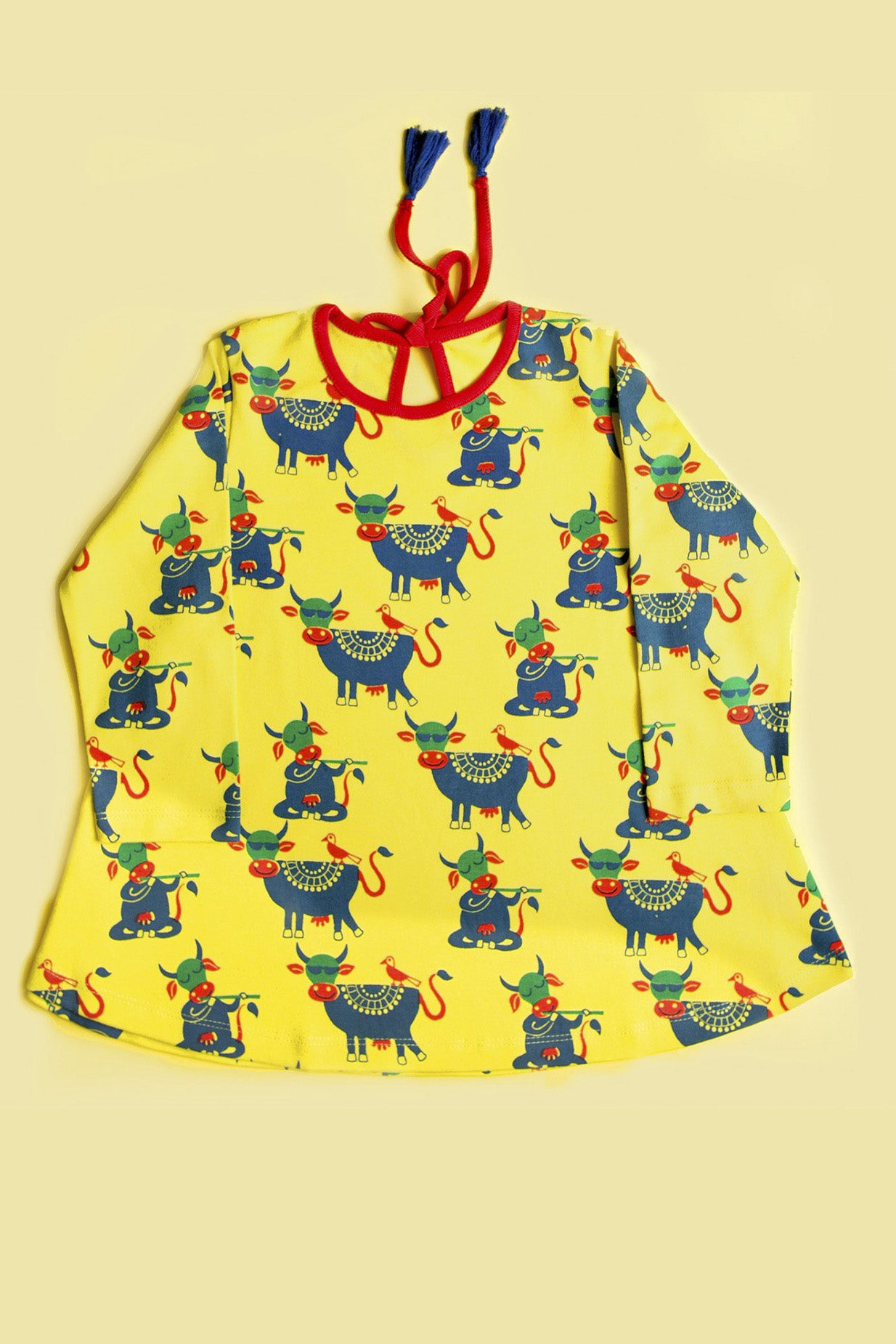 Girl Yellow Cow Dress