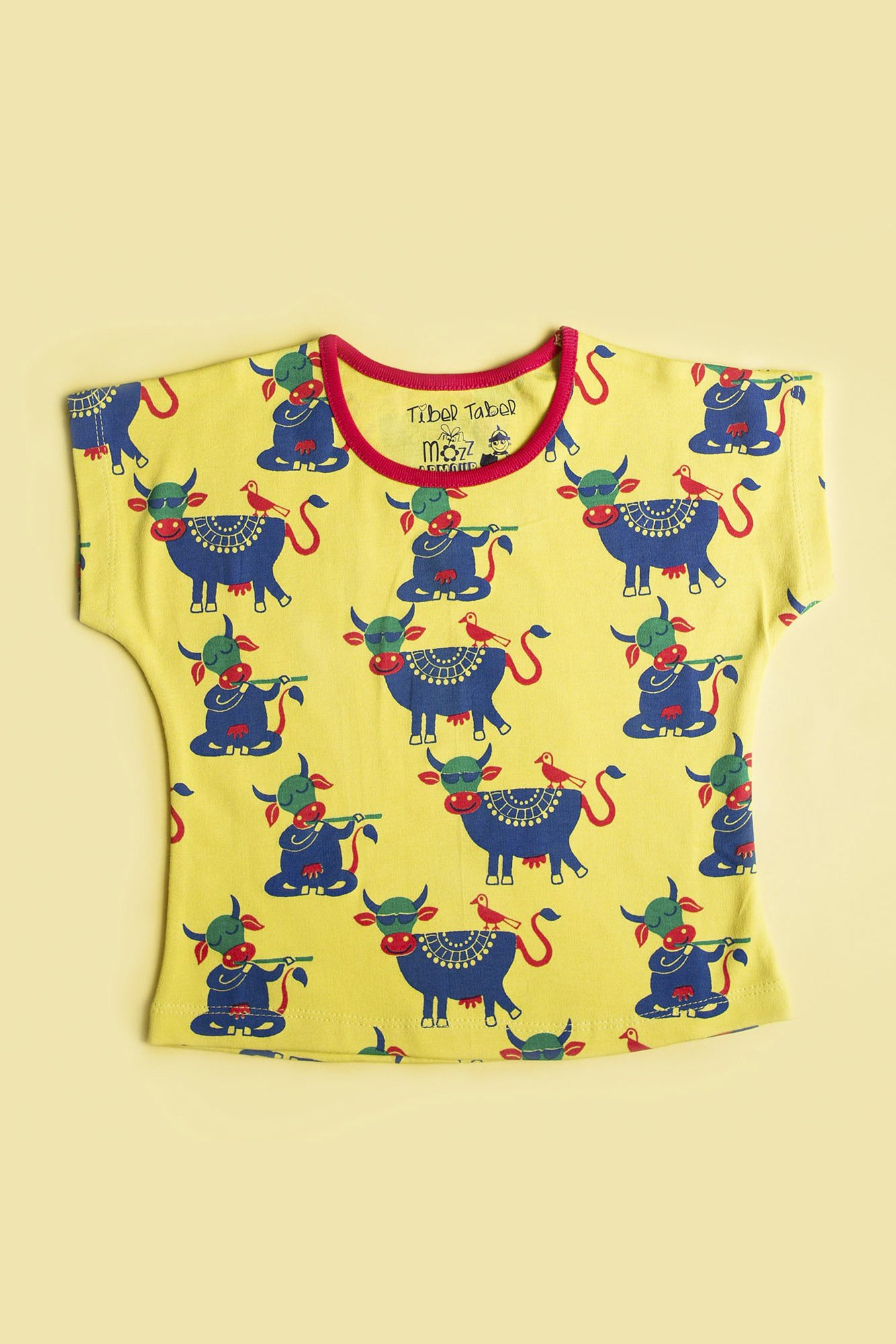 Girl Yellow Cow Top