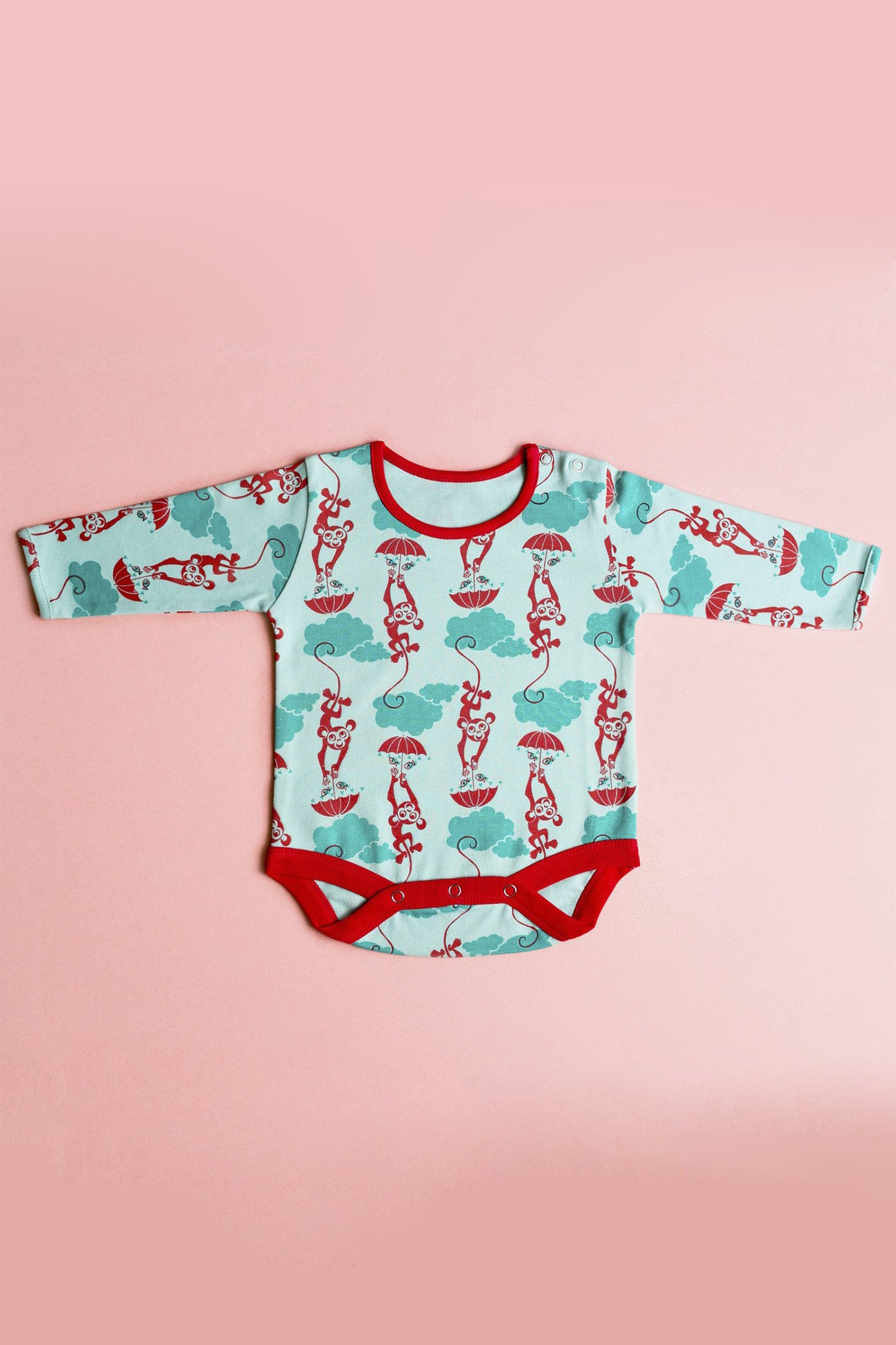 Unisex Blue Monkey Romper