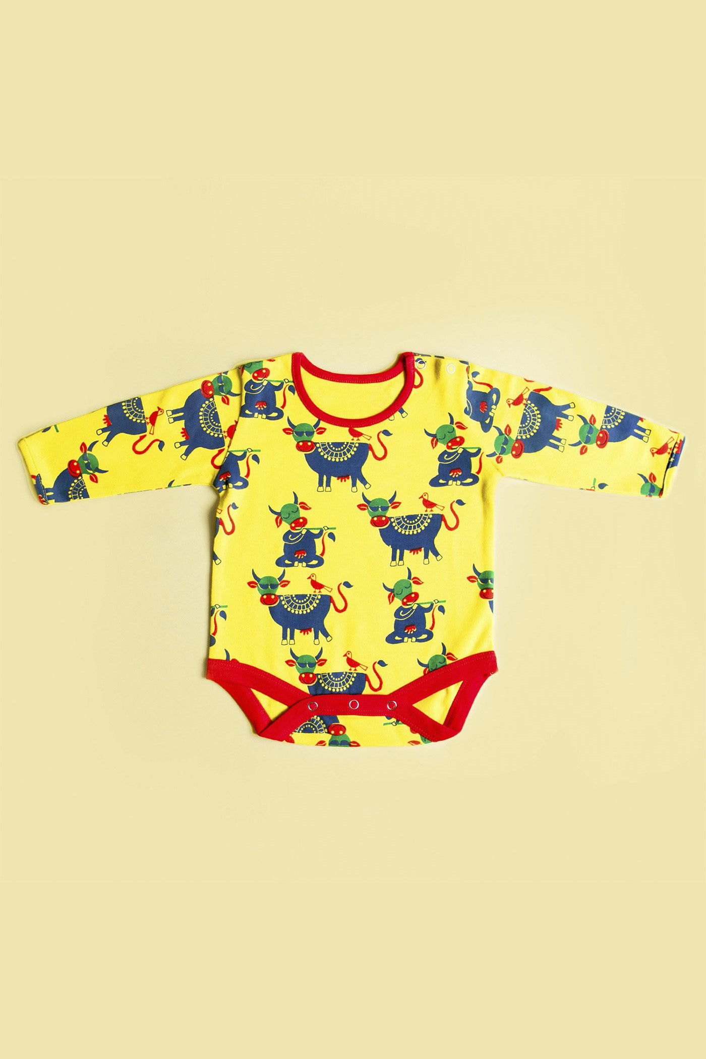 Unisex Yellow Cow Romper