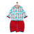 Boy Blue Monkey Print Kurta Dhoti Set