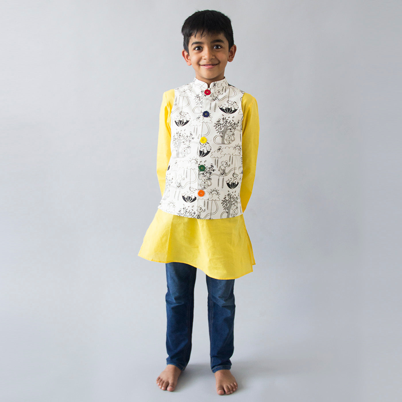 Boy Color & Wear Nehru Jacket