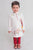 Boy White Gond Lion Kurta Set