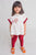 Girl White Gond Lion Top Set