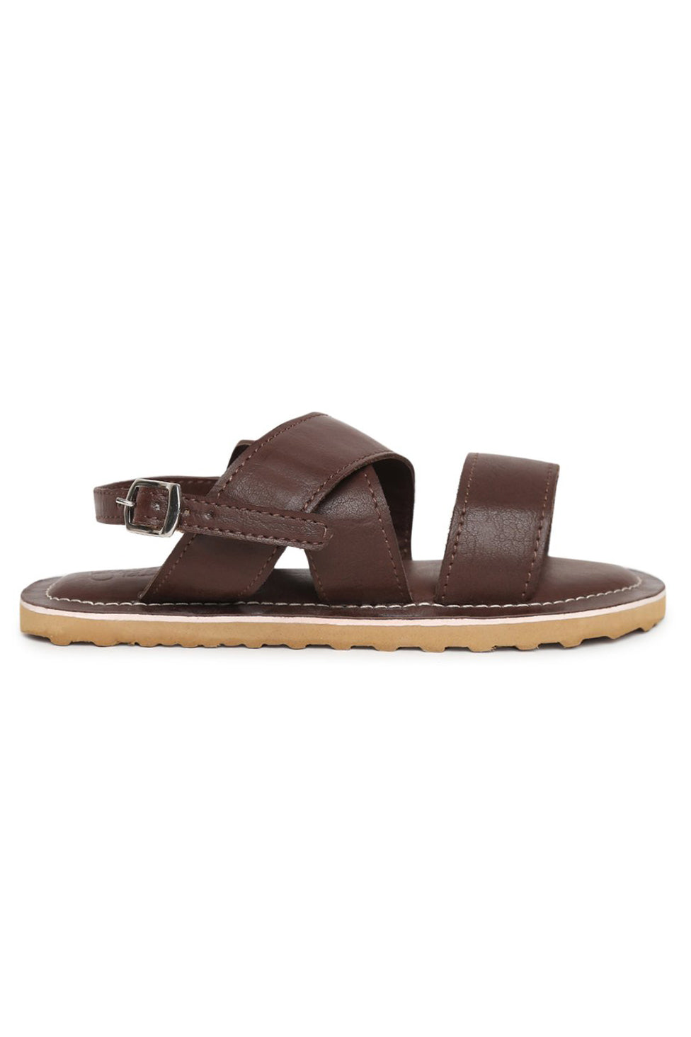 Boys Mocha Criss Cross Sandal