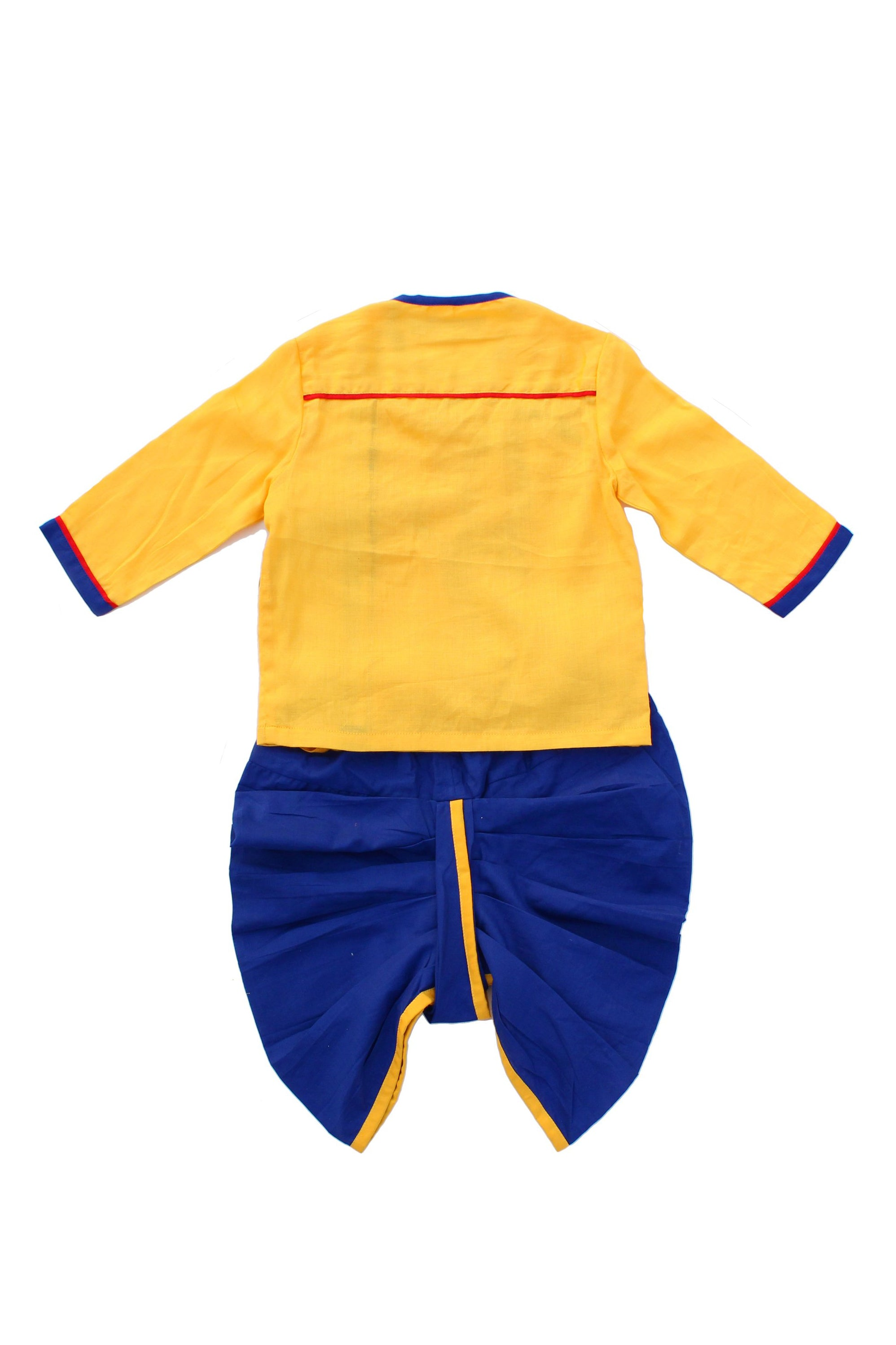 Baby Boy Yellow Monkey Dhoti Set