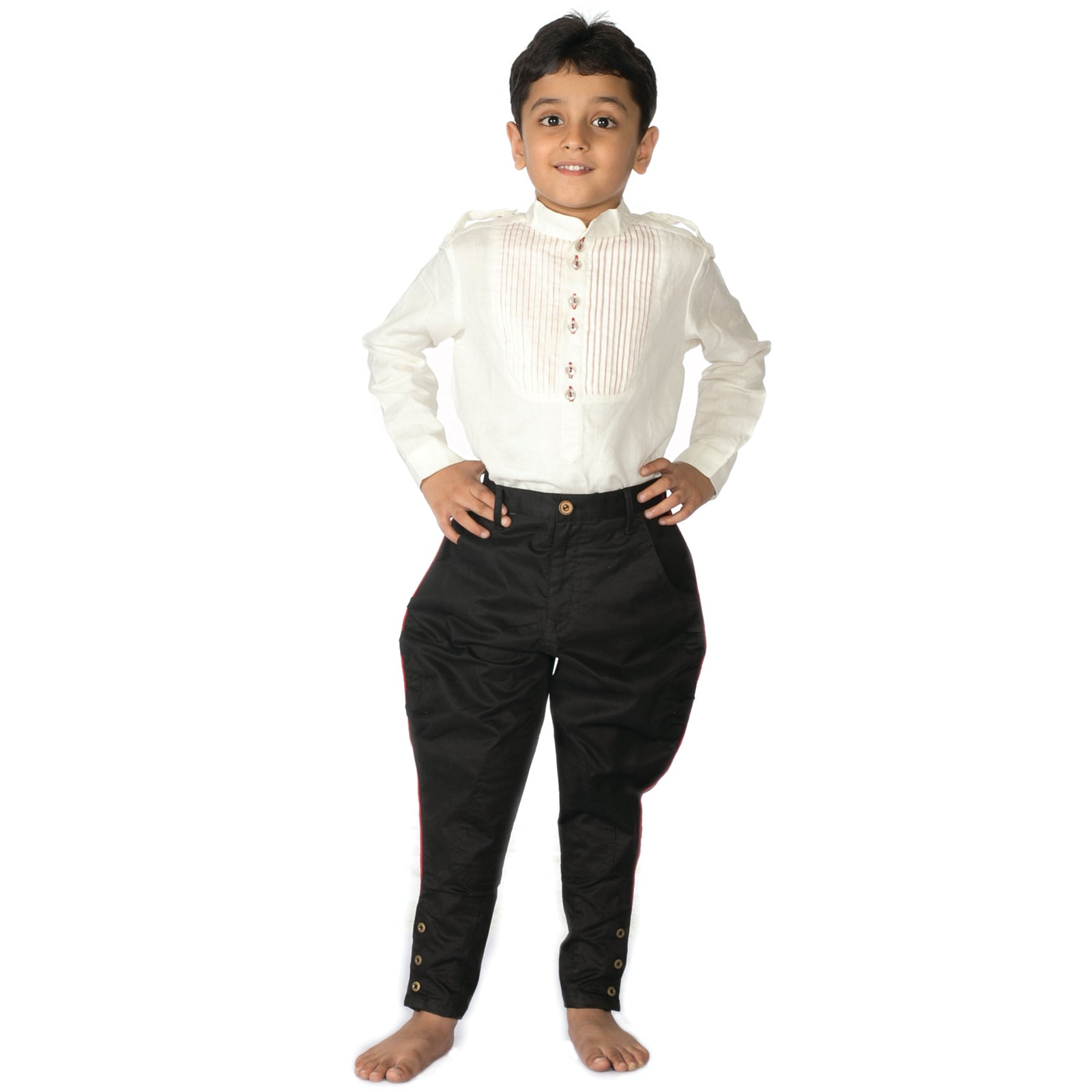 Boy Black Jodhpuri Trousers
