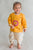 Baby Boy Mustard Krishna Lotus Feet Dhoti Set