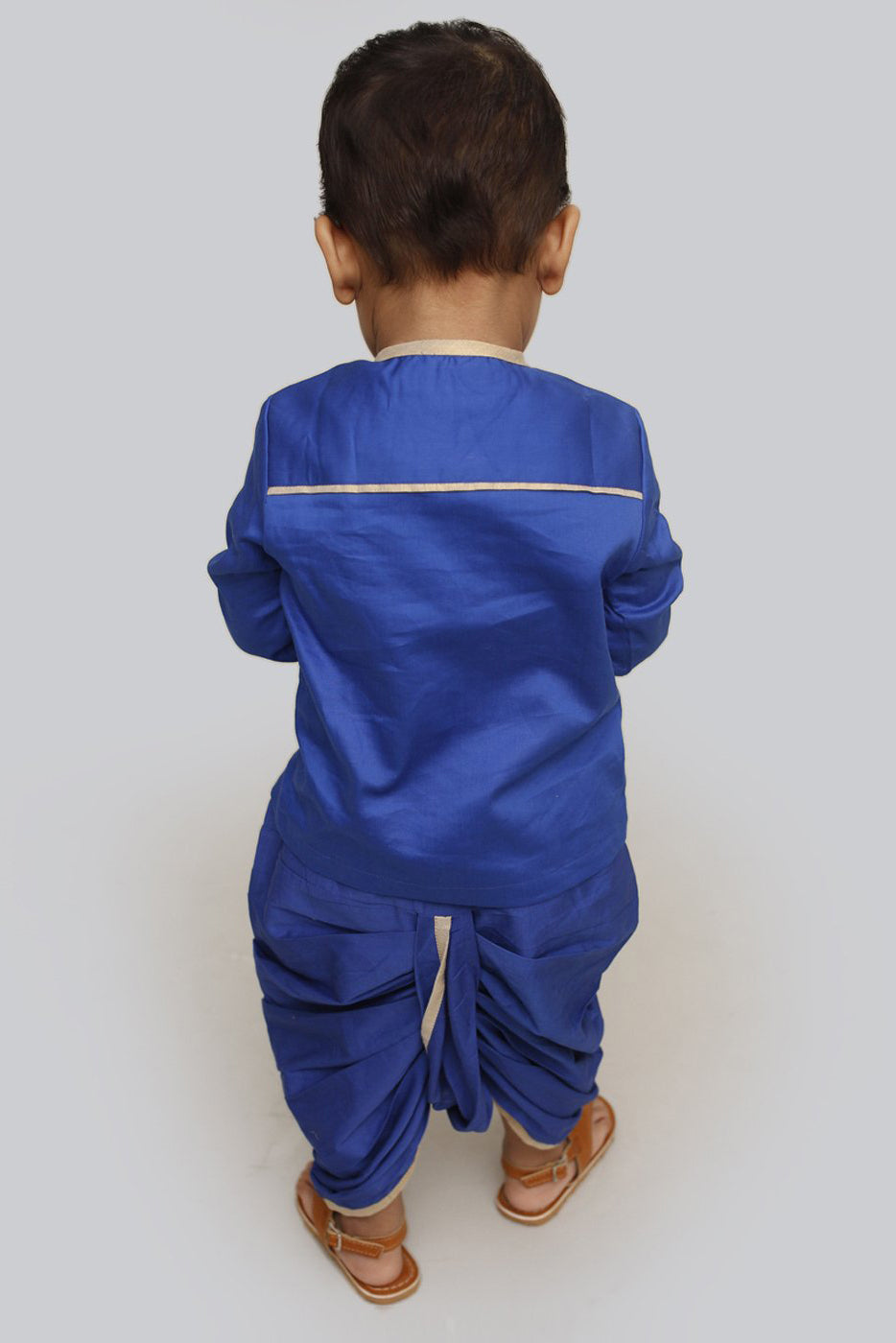 Baby Boy Blue Jaal Dhoti Set