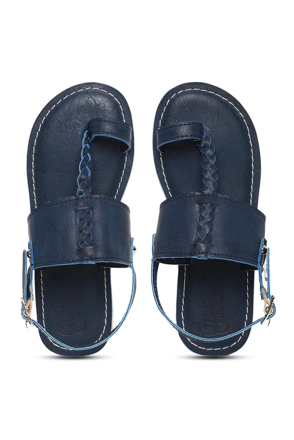 Boy Blue Braid Kohlapuri Sandal