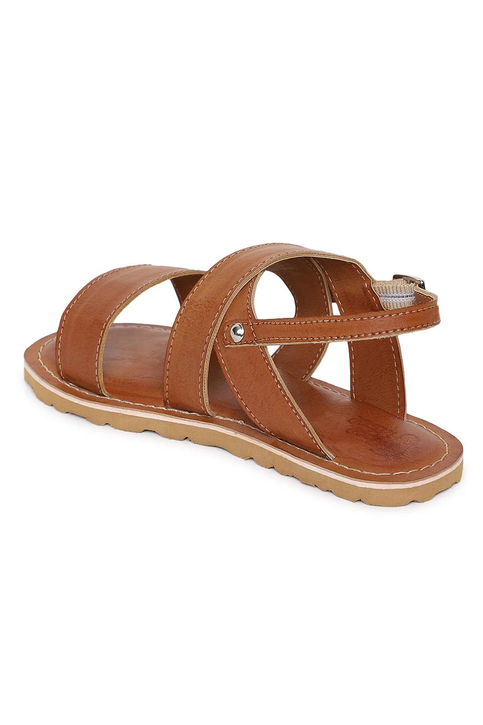 Boy Brown Criss Cross Sandal