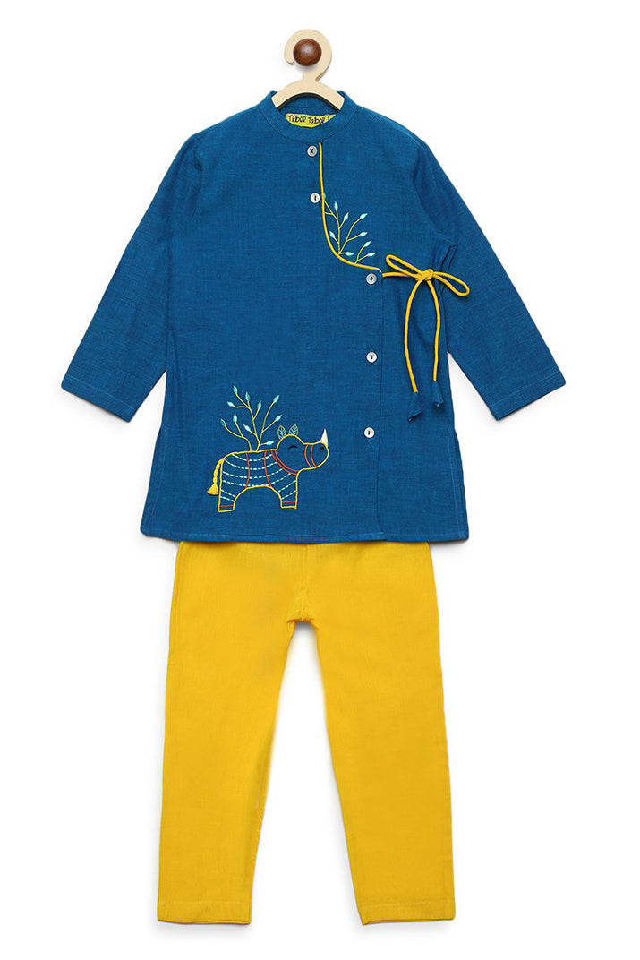 Boy Blue Gond Rhino Kurta Set