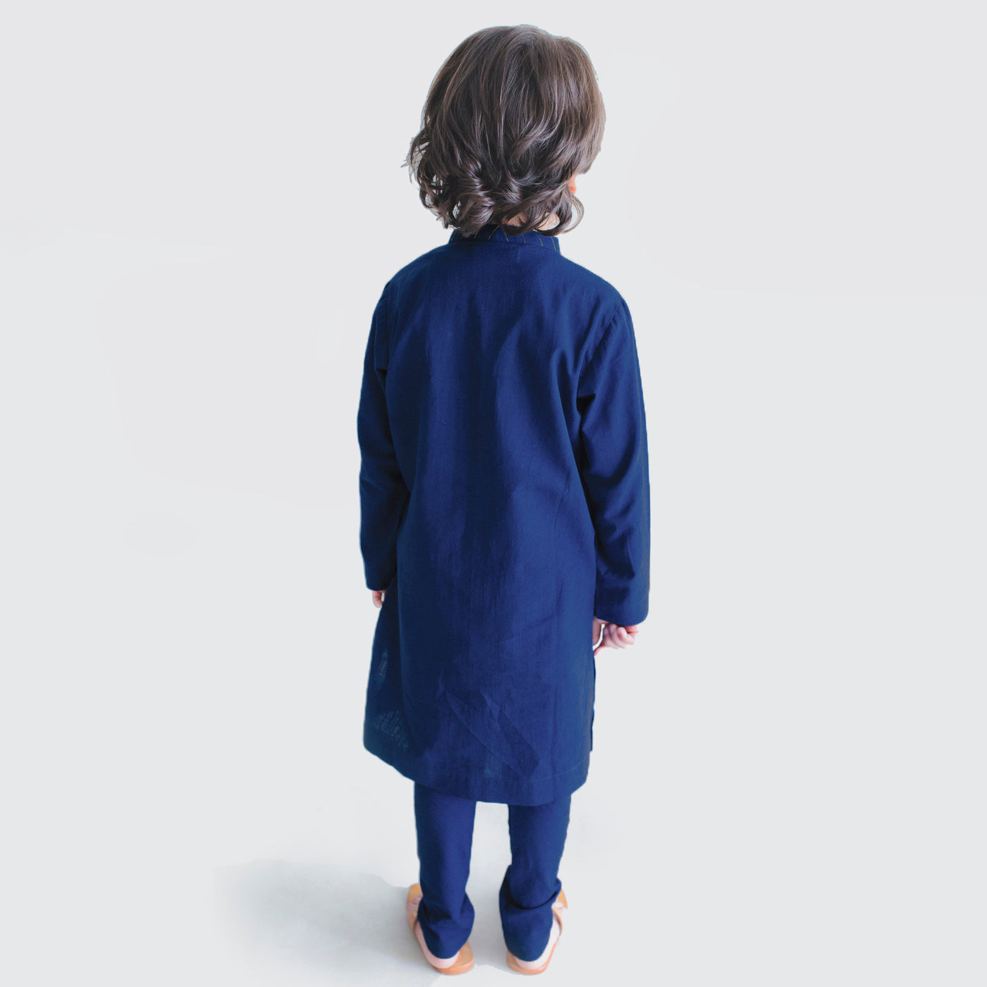 Boy Blue Diagnol Kurta Set