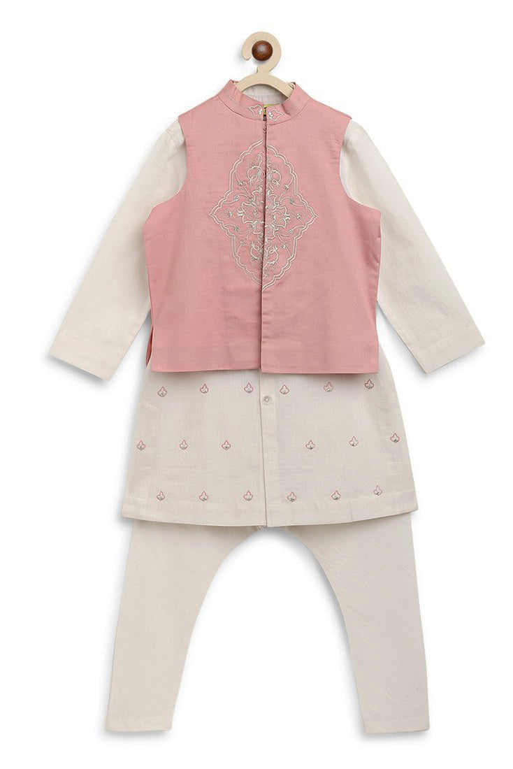 Boy Persian 3 Pc Bundi Kurta Set