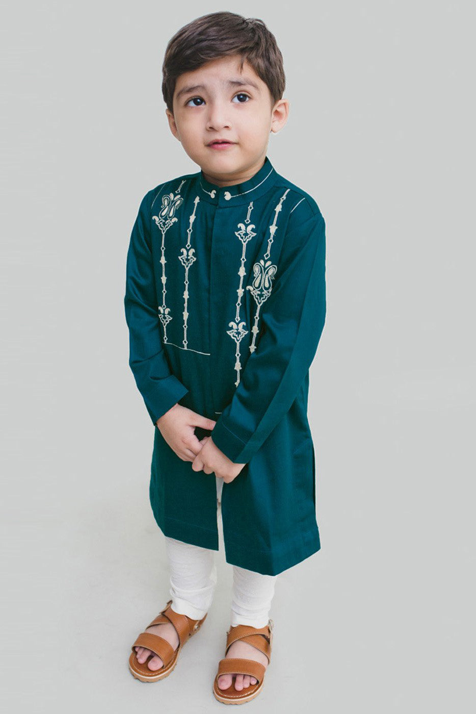 Boy Teal Persian Kurta Set