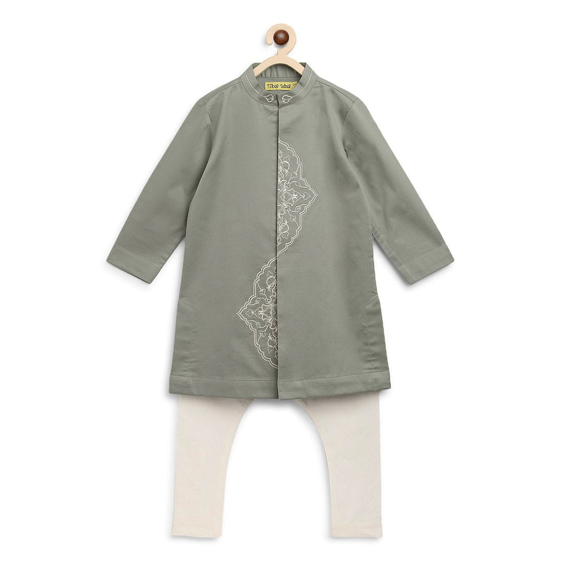 Boy Green Persian Kurta Set