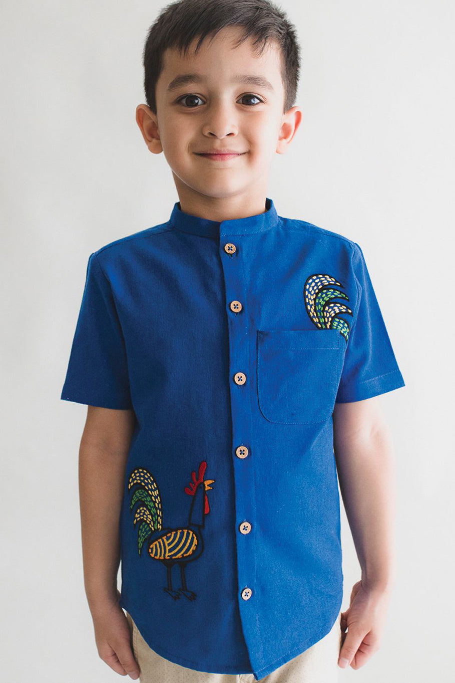 Boy Blue Rooster Shirt