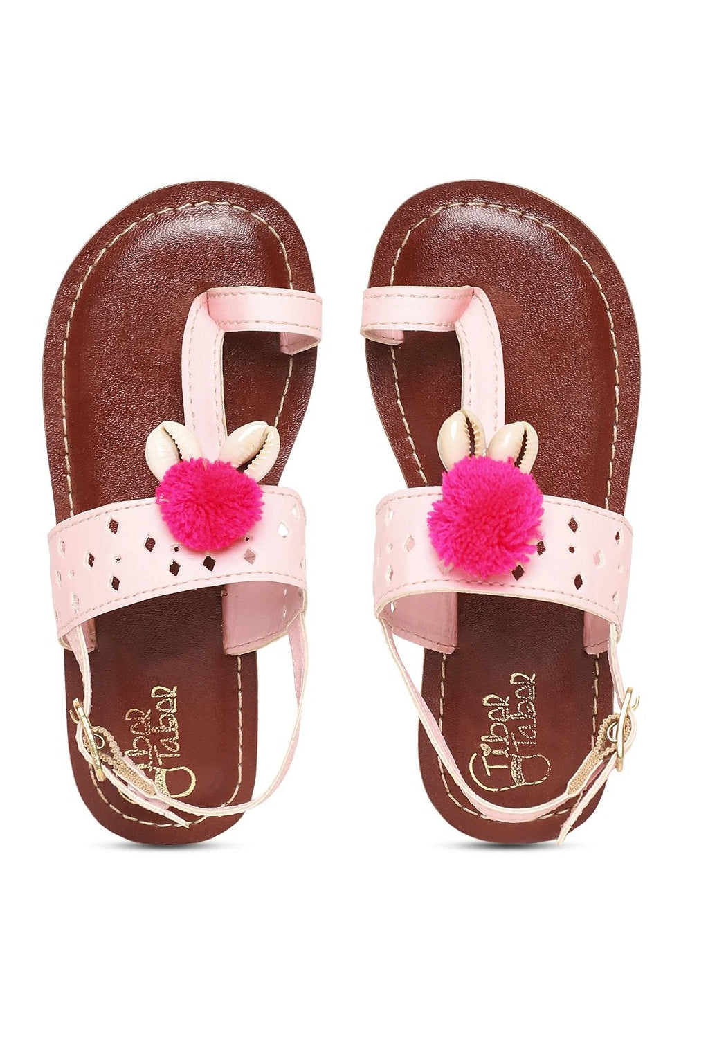 Girl Pink Cutwork Sandal