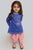 Girls Blue Divine Hand Kurta Set