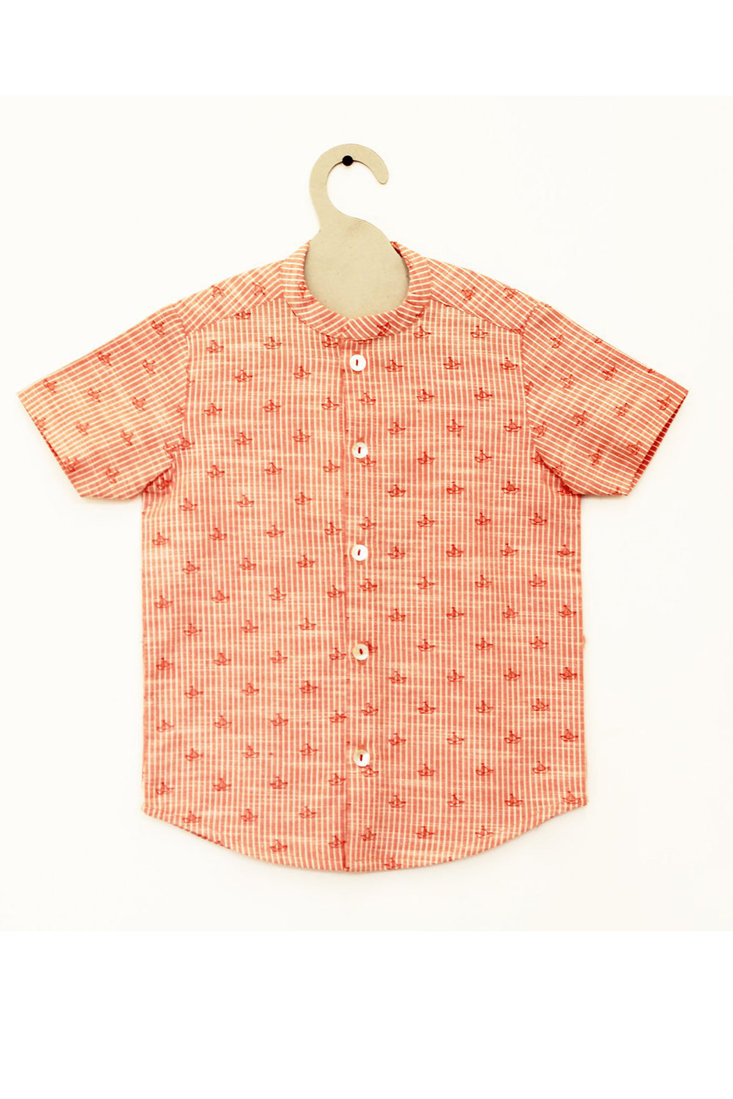 Boy Red Ship Shirt