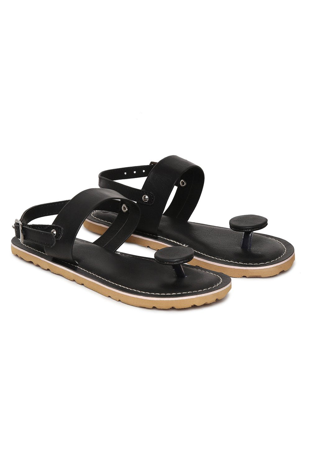 Boys Black Circle Grip Sandal