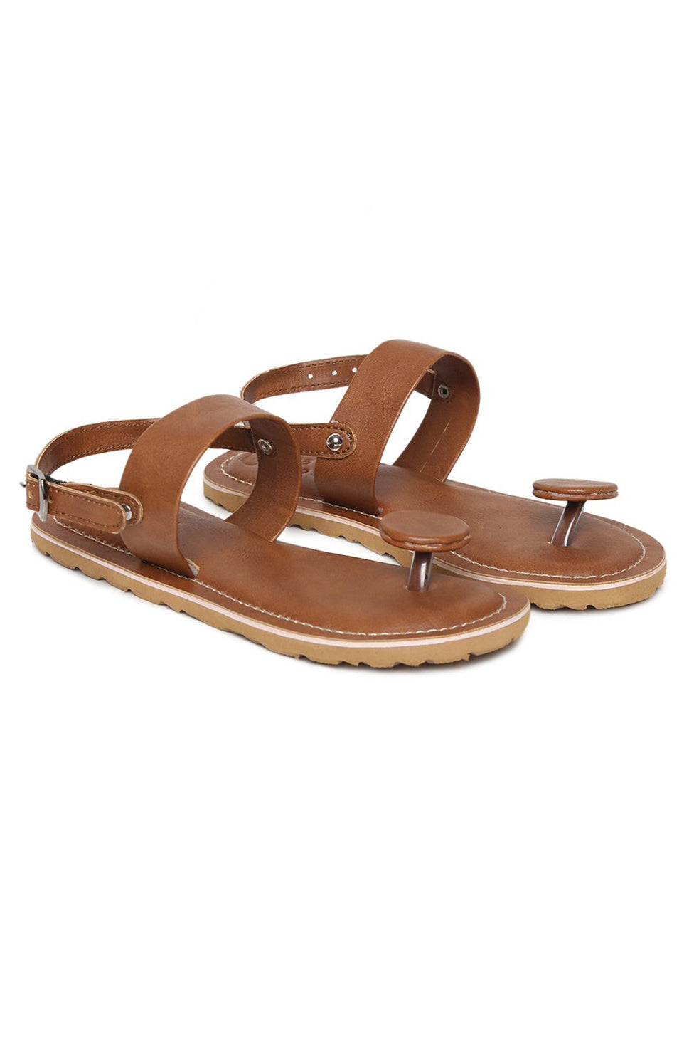 Boys Brown Circle Grip Sandal
