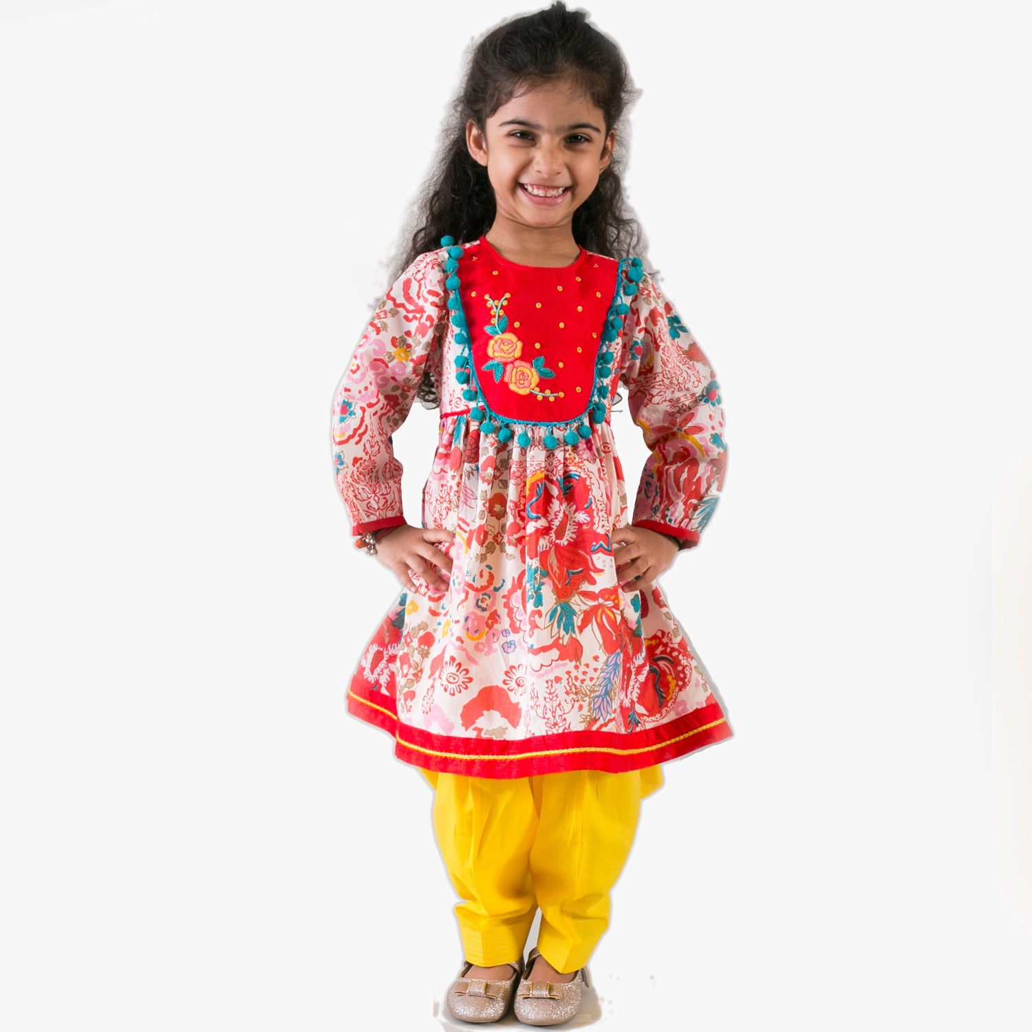 Girl Multicolor rose suit set
