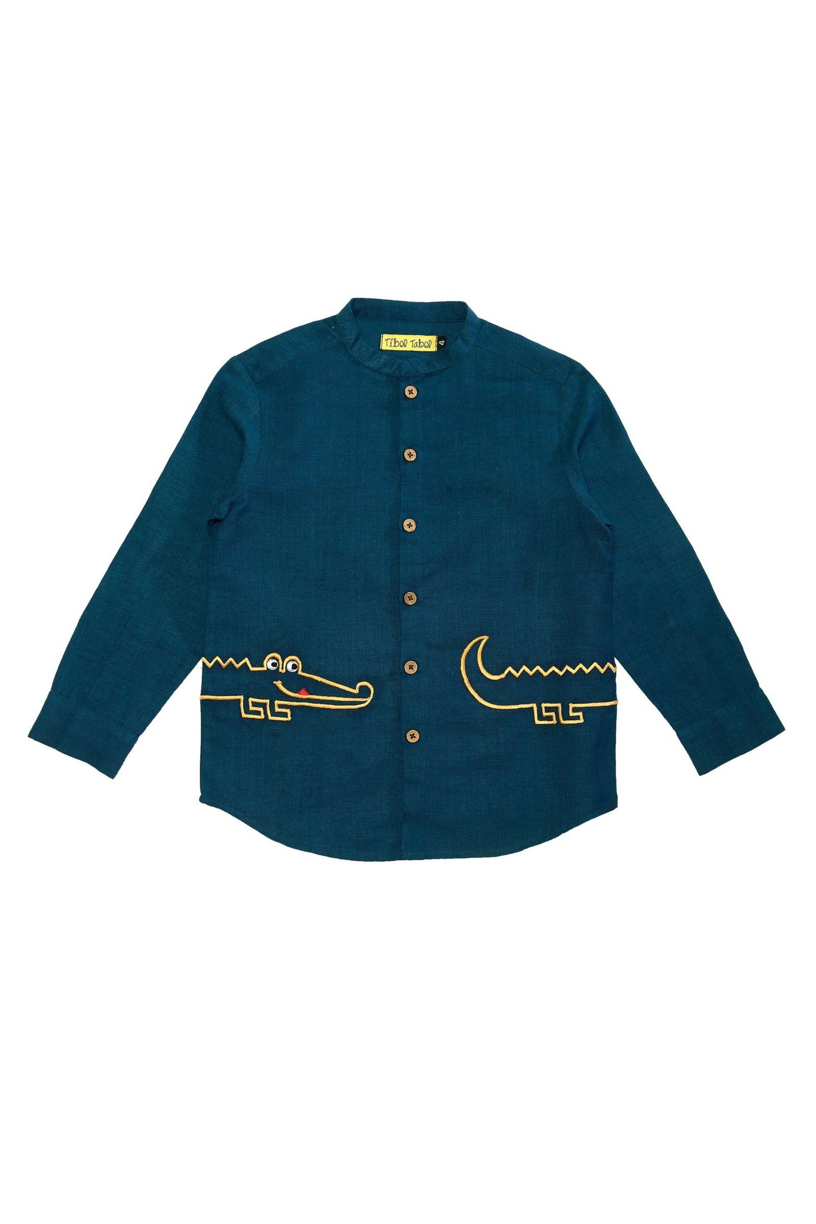 Boy Teal Crocodile Shirt