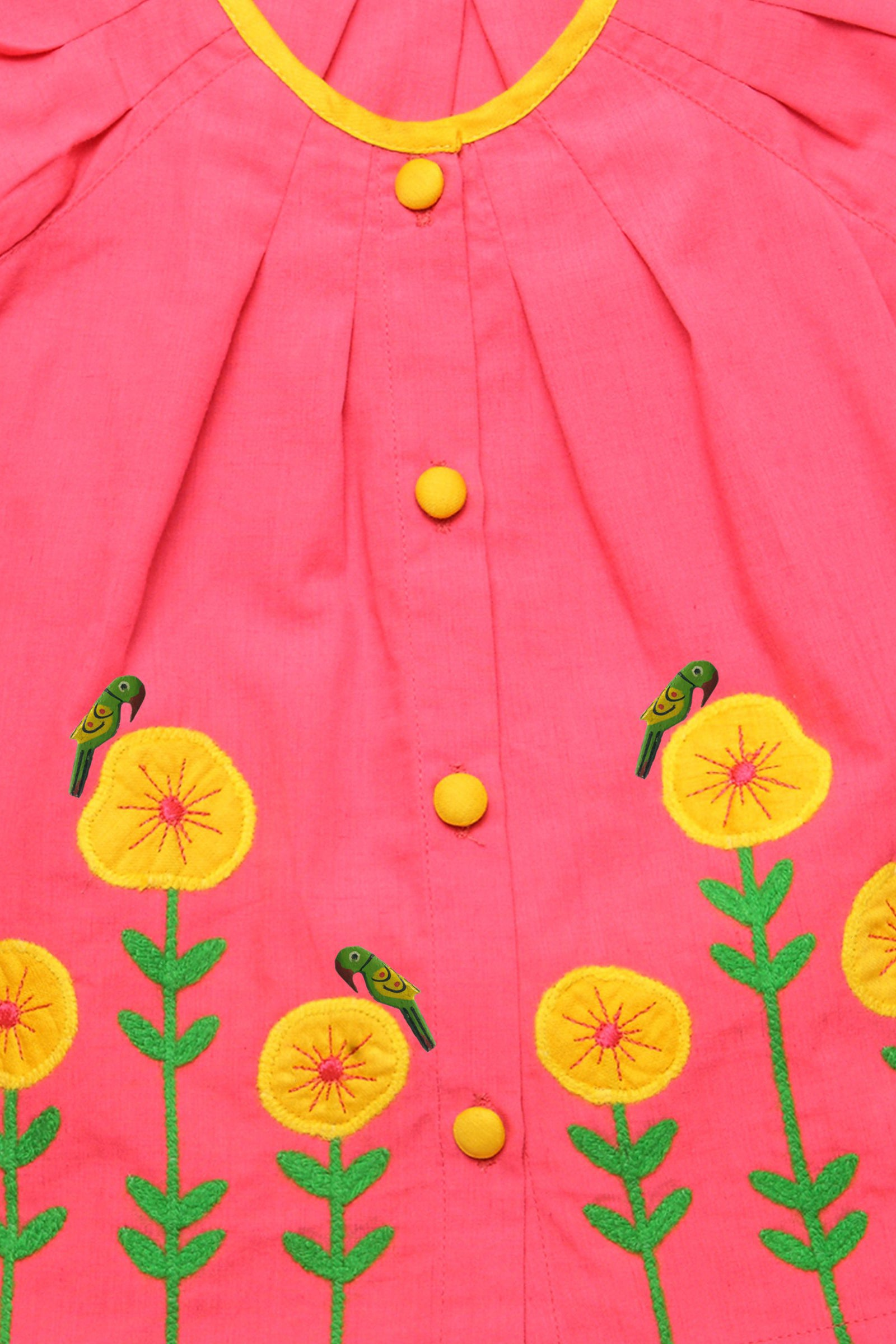 Girl Poppy pink dress