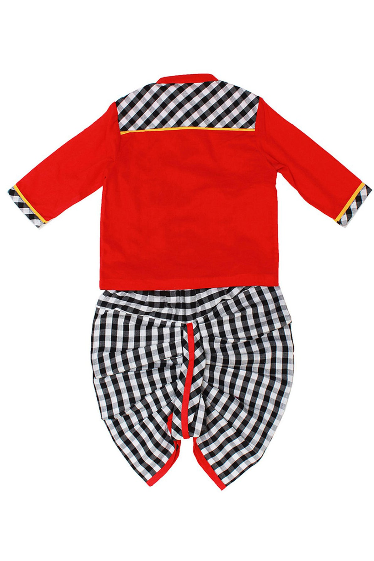 Baby Boy Red Fish Dhoti Set