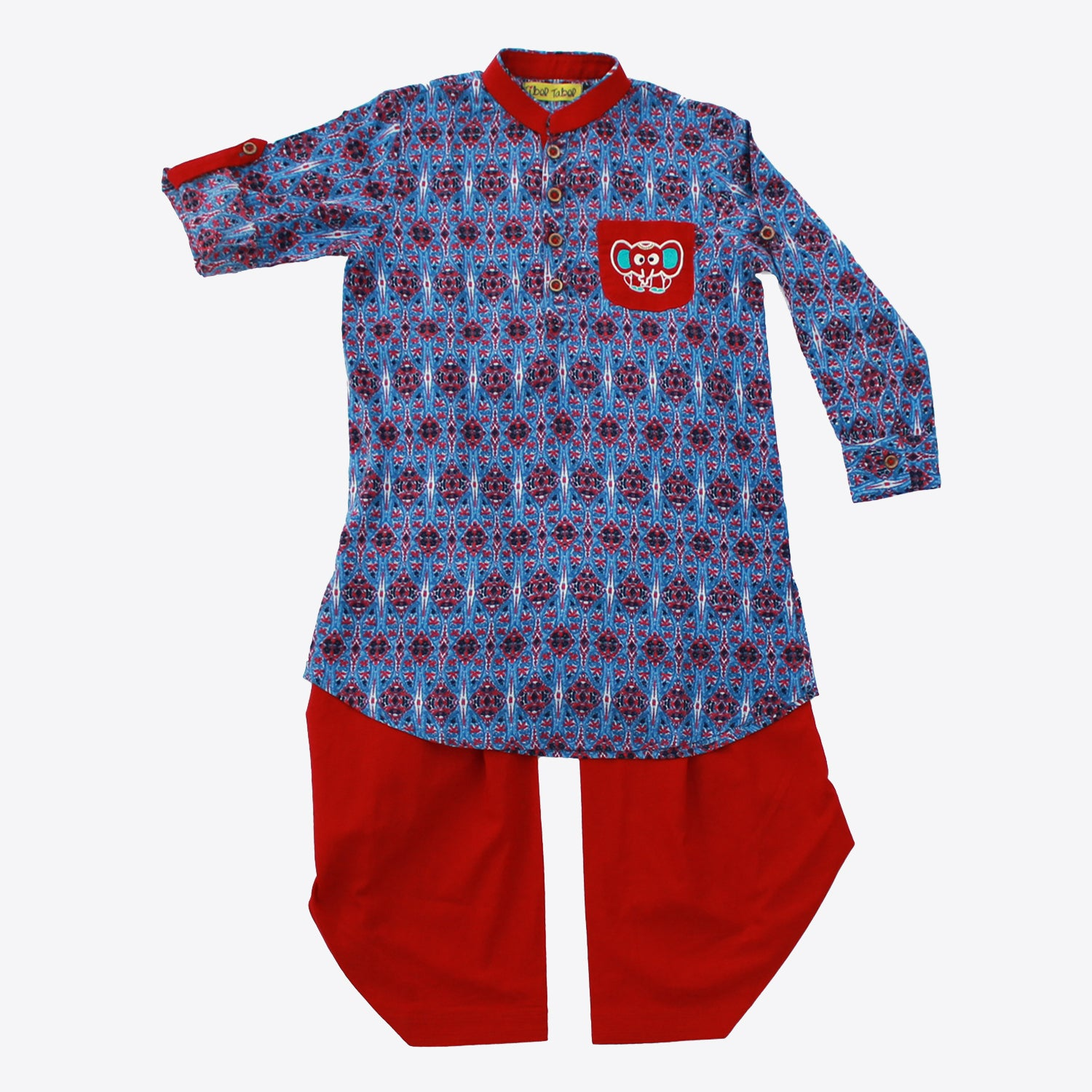 Boy Persian Print Kurta Set