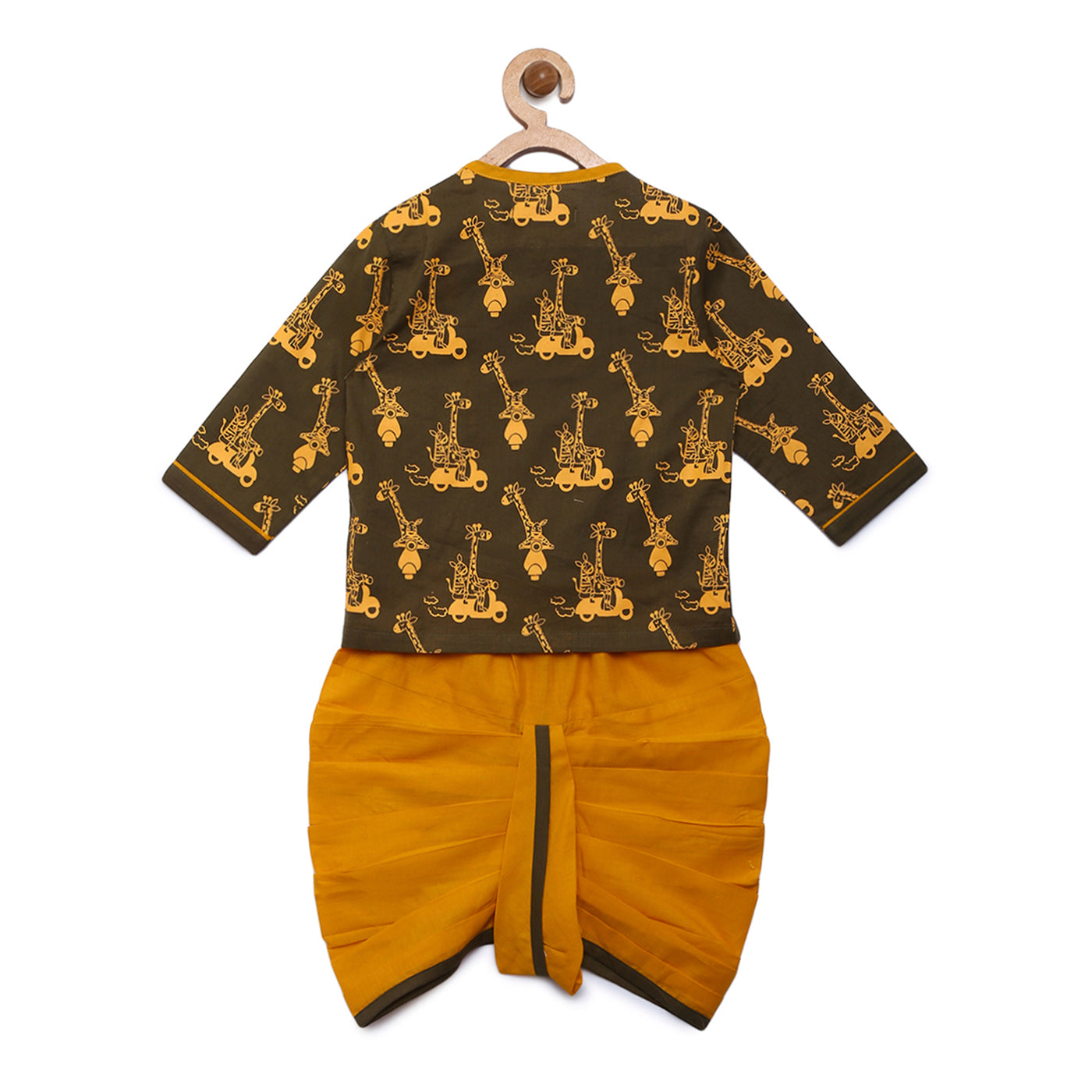 Boy Olive Jungle tales Dhoti Set