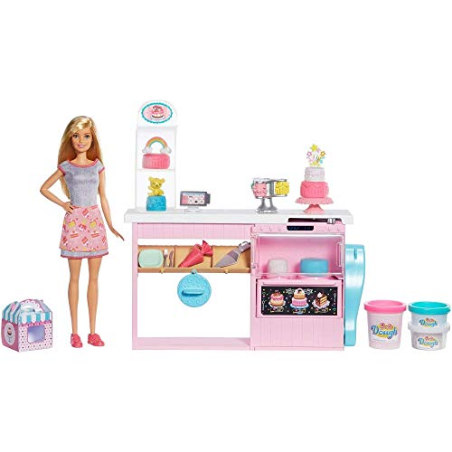 Barbie Cake Decorating Playset QIo-B07NC21PYS
